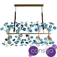 Люстра Agate Burst Chandelier Blue Line