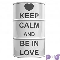 Декоративная Бочка Keep calm and be in love M